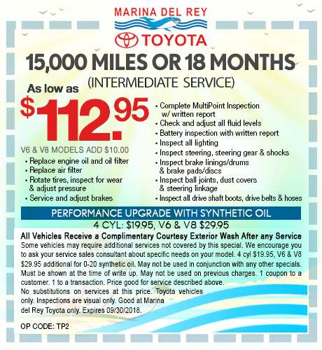 15,000 Miles or 18 Months Intermediate Service $112.95