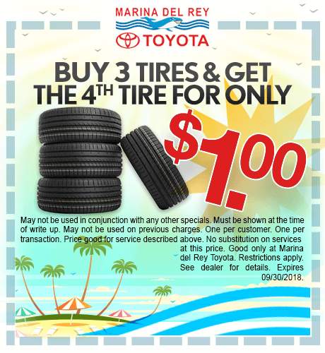 Buy 3 Tires and Get the 4th Tire For $1