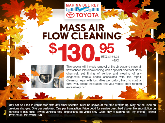 Mass Air Flow Cleaning Service $130.95