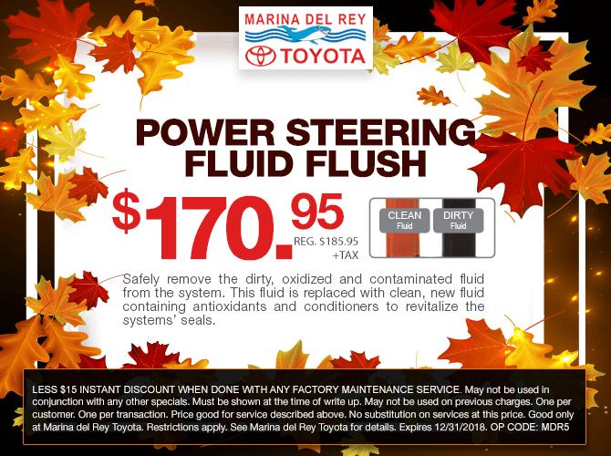 Power Steering Fluid Flush $170.95