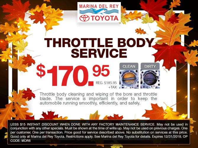 Throttle Body Service $170.95