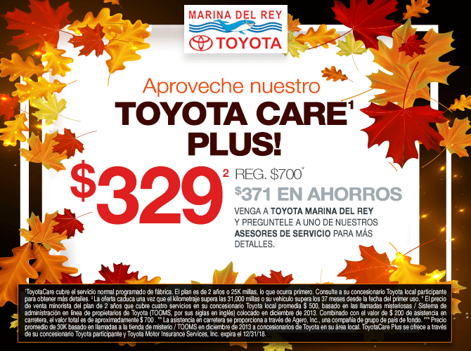 Aproveche de Toyota Care Plus $329