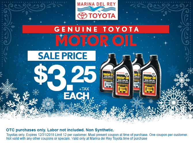 Toyota Motor Oil $8.49 + tax each