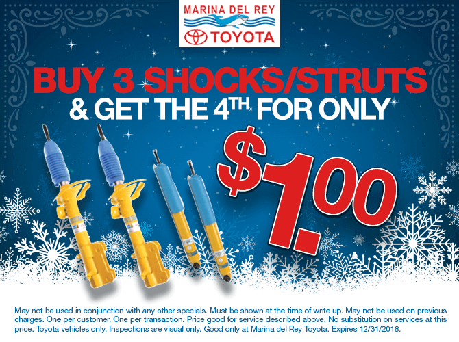 Buy 3 Shocks/Struts and Get the Fourth For Only $1.00