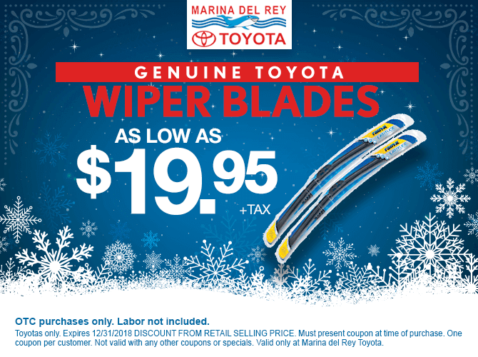 Wiper Blades $19.95 + tax each