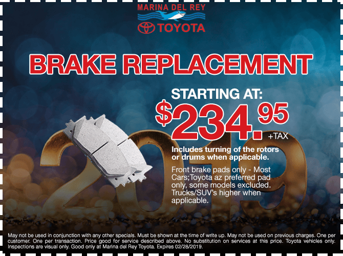 Brake Replacement Special $234.95 + tax