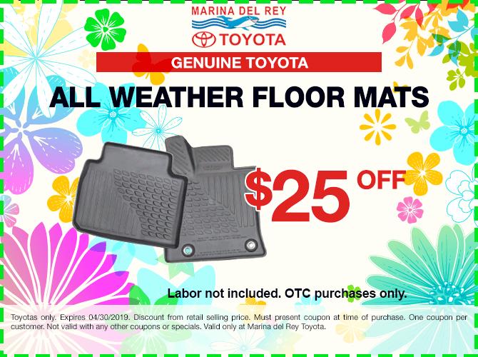 Genuine Toyota Floor Mats $25 Off
