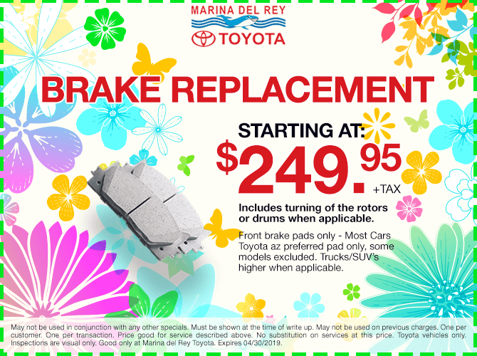 Brake Replacement Special $249.95 + tax