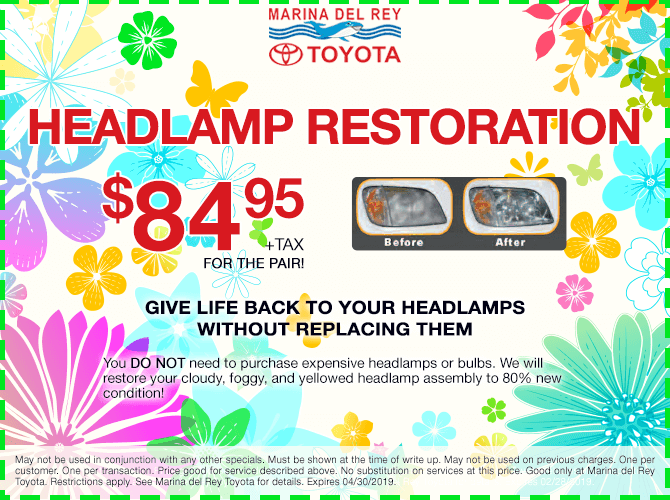 Headlamp Restoration $84.95 + tax