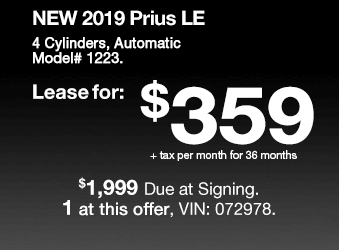 Toyota Sales Event Prius Lease Offer