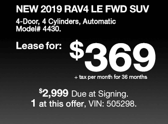 Toyota Sales Event RAV4 Lease Offer