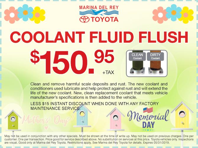 Coolant Fluid Flush $150.95 + tax