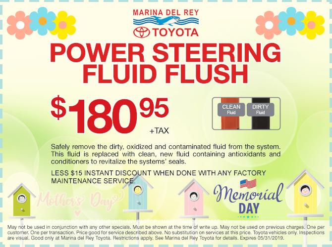 Power Steering Fluid Flush $180.95
