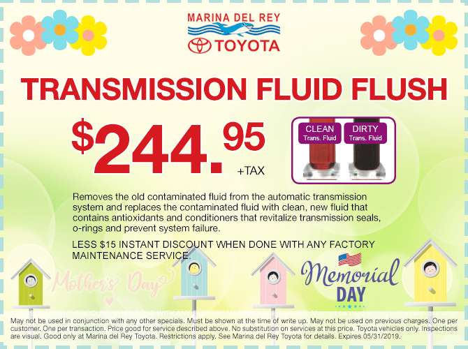 Tranmission Fluid Flush Special Offer $244.95 + tax