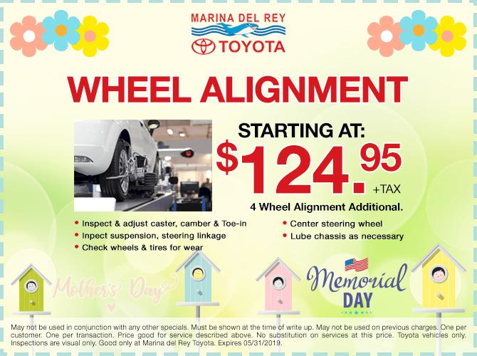 Wheel Alignment $124.95