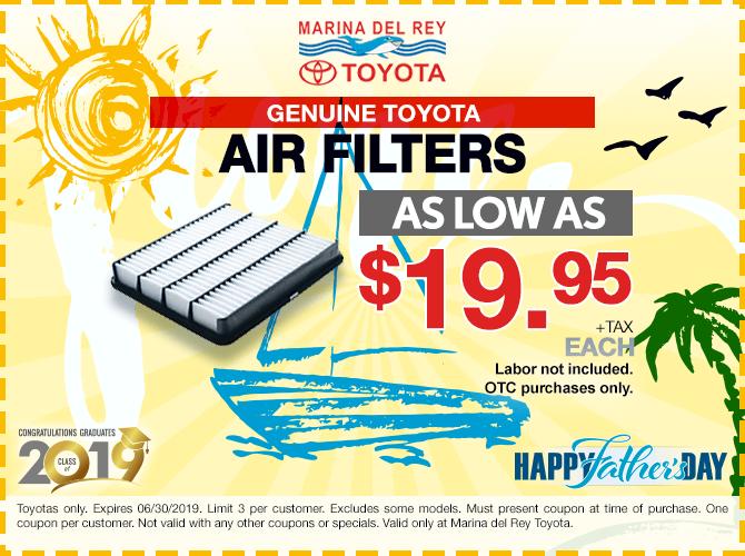 Genuine Toyota Air Filter $19.95 + Tax