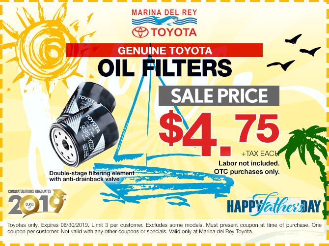 Genuine Toyota Oil Filter $4.75 + Tax