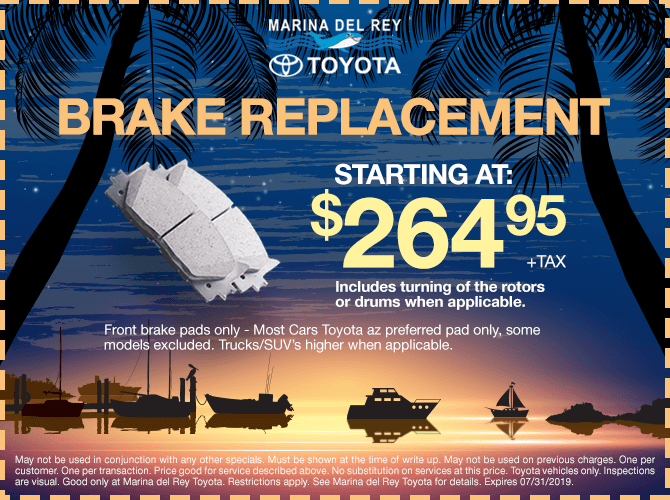Brake Replacement Special $264.95 + tax