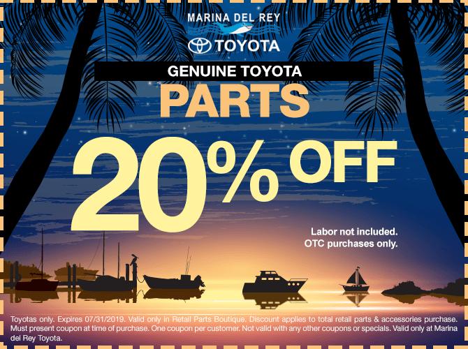 Discount Toyota Parts >> Parts Specials Marina Del Rey Toyota