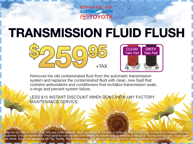 Tranmission Fluid Flush Special Offer $259.95 + tax