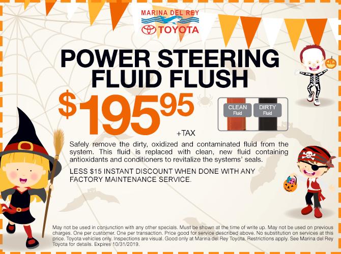 Power Steering Fluid Flush $195.95