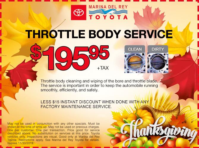 Throttle Body Service $195.95