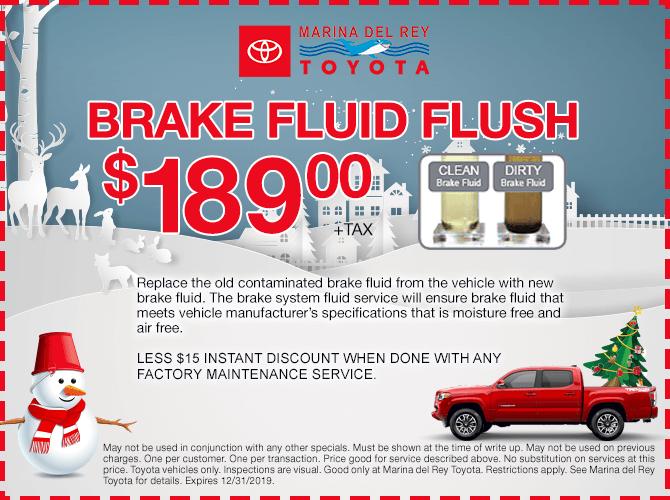Brake Fluid Flush $189 + tax
