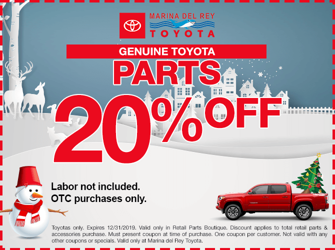 Genuine Toyota Parts Special 20% Off