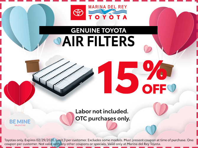 Genuine Toyota Air Filters 15% Off