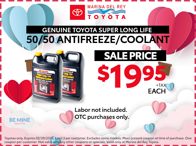 Genuine Toyota Antifreeze $19.95 + Tax