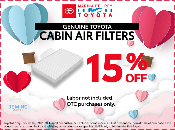 Genuine Toyota Cabin Air Filter 15% Off