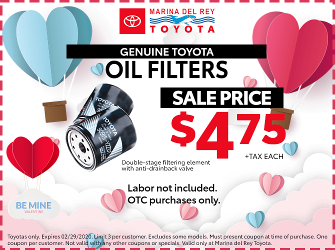 Genuine Toyota Oil Filter $4.75 + Tax