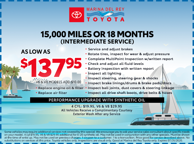 15,000 Miles or 18 Months Intermediate Service $137.95