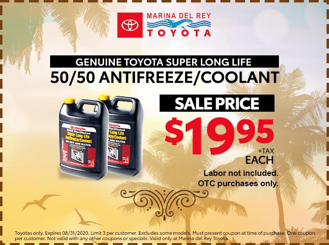 Genuine Toyota Antifreeze $19.95 + Tax