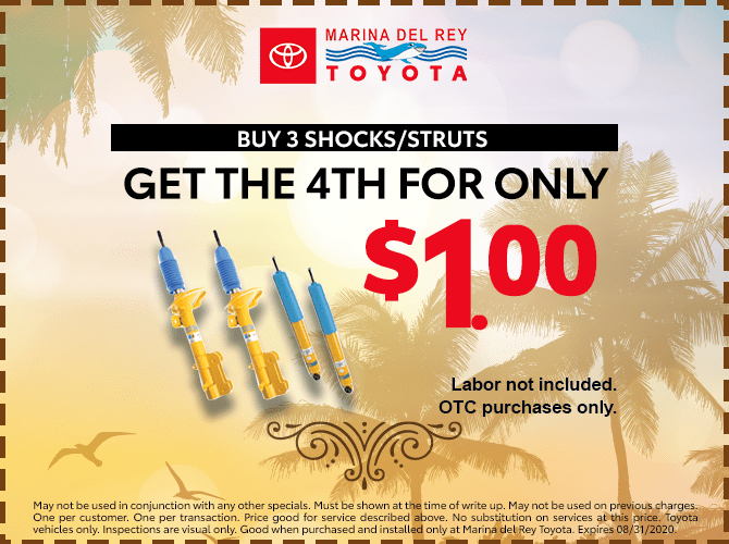 Get the 4th Genuine Toyota Shock/Strut For $1.00