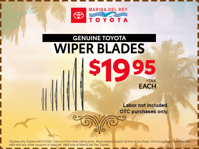 Genuine Toyota Wiper Blades $19.95 + Tax