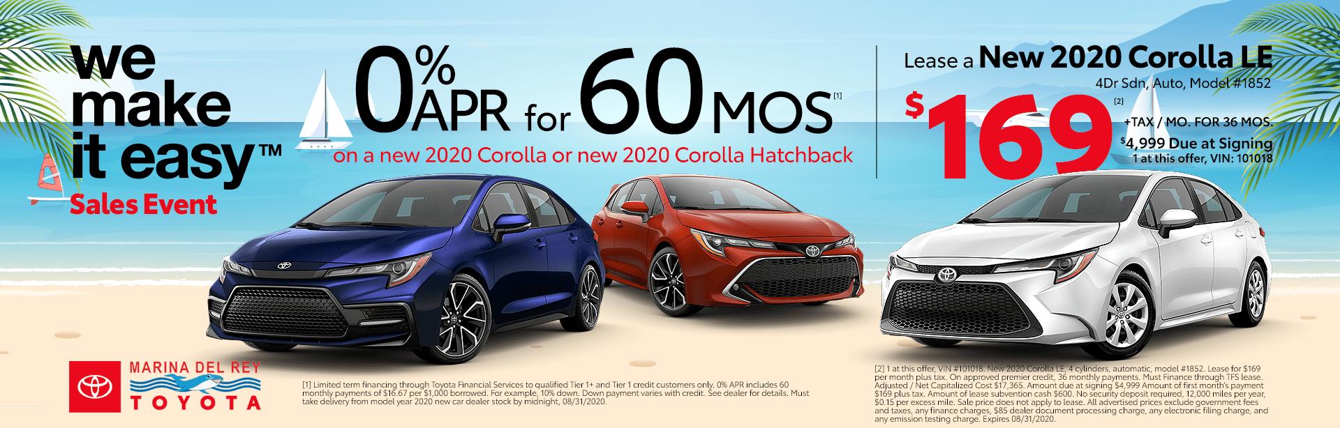 2020 Corolla Lease 2020 Corolla Deals