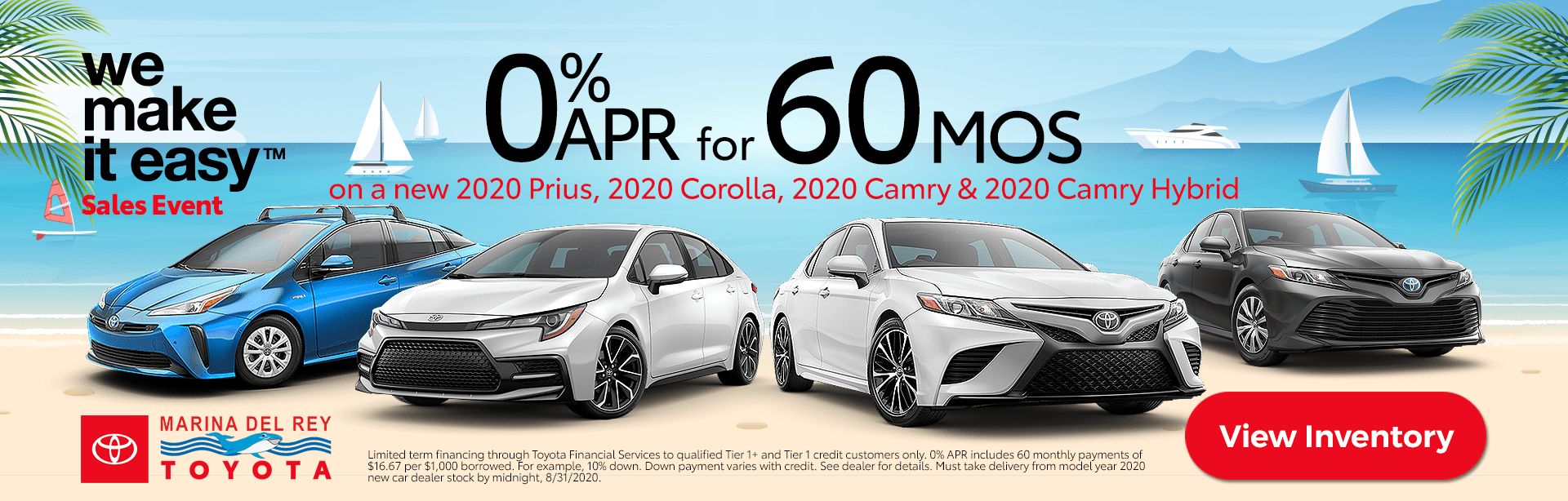 July 2020 Camry and Prius Deals Zero Percent APR