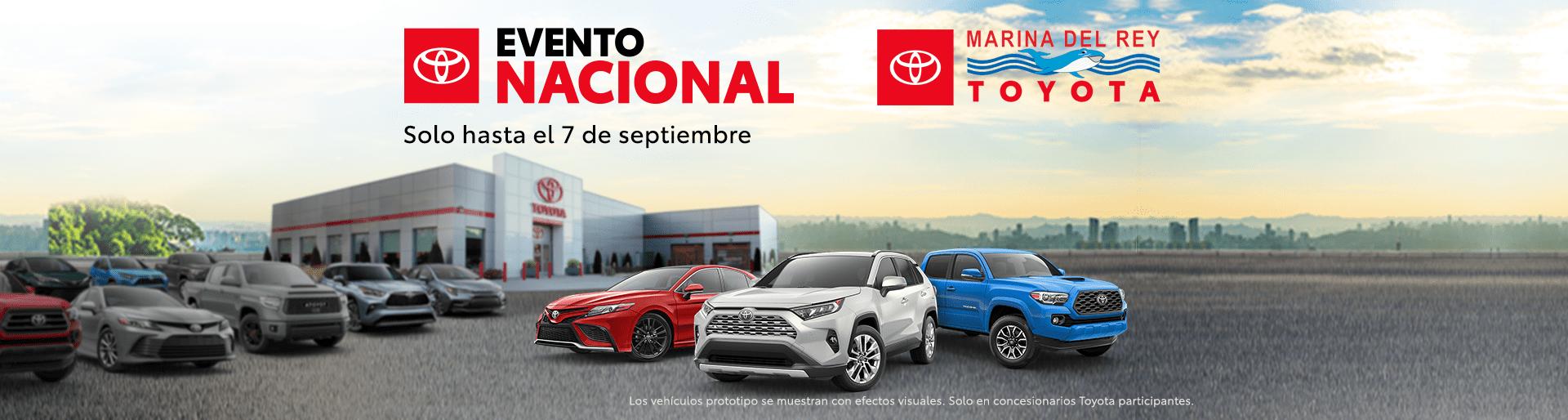 Toyota evento nacional evento de ventas julio y augusta 2021