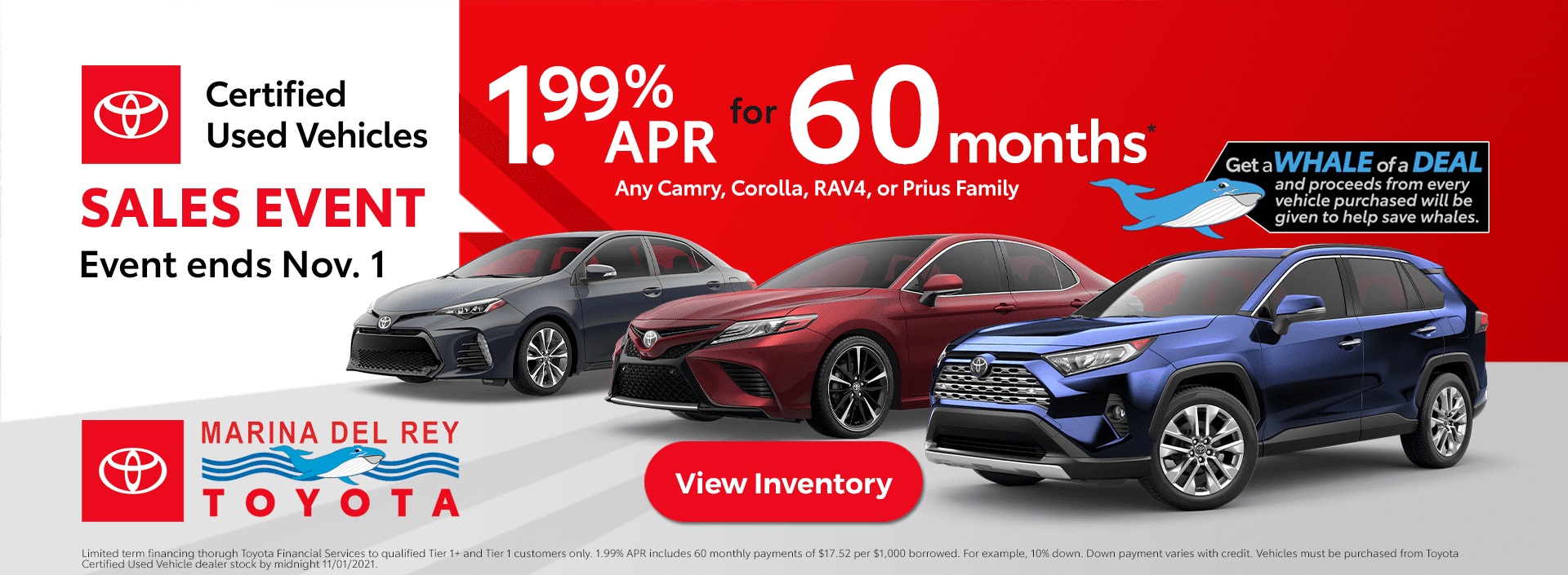 Toyota Certified Used Vehicle Sales Event TCUV