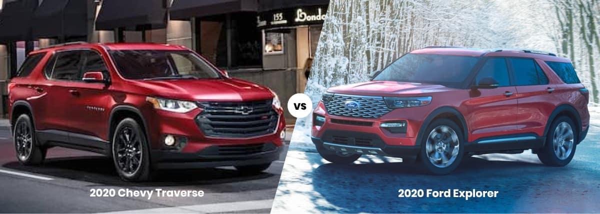 2020 Chevy Traverse vs. 2020 Ford Explorer
