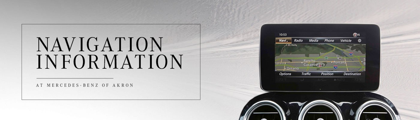 Mercedes-Benz Navigation Information in Akron, OH