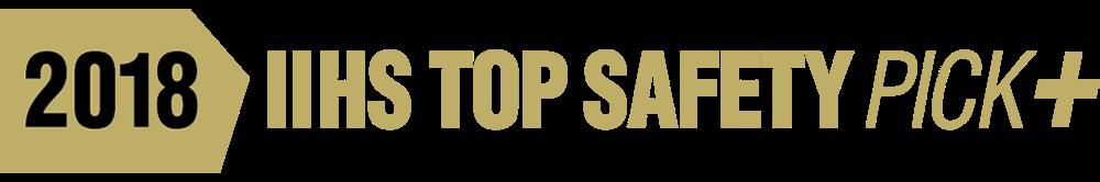2018 IIHS Top Safety Pick Plus Award