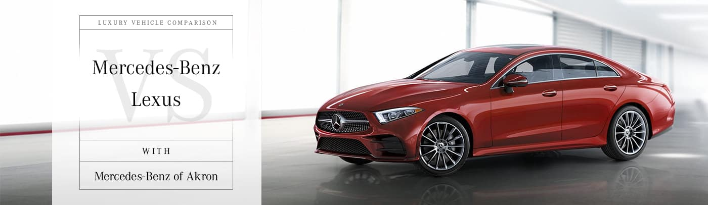 Mercedes-Benz vs Lexus Comparison Page in Akron, OH