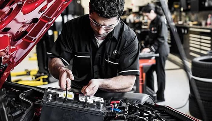 Mercedes-Benz Service Inspection in Akron Ohio