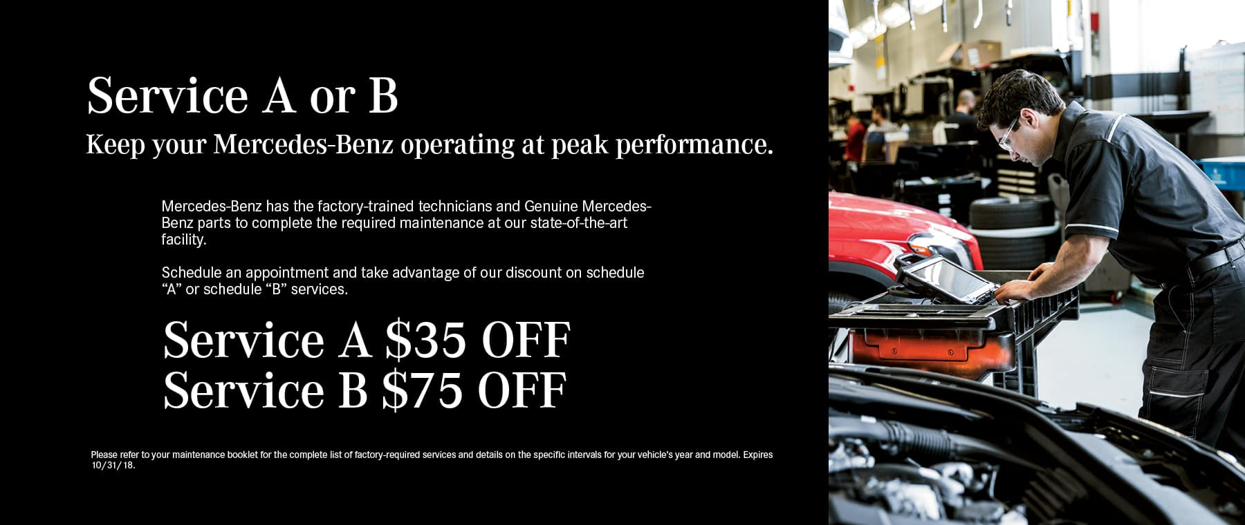 Mercedes Benz Service Specials