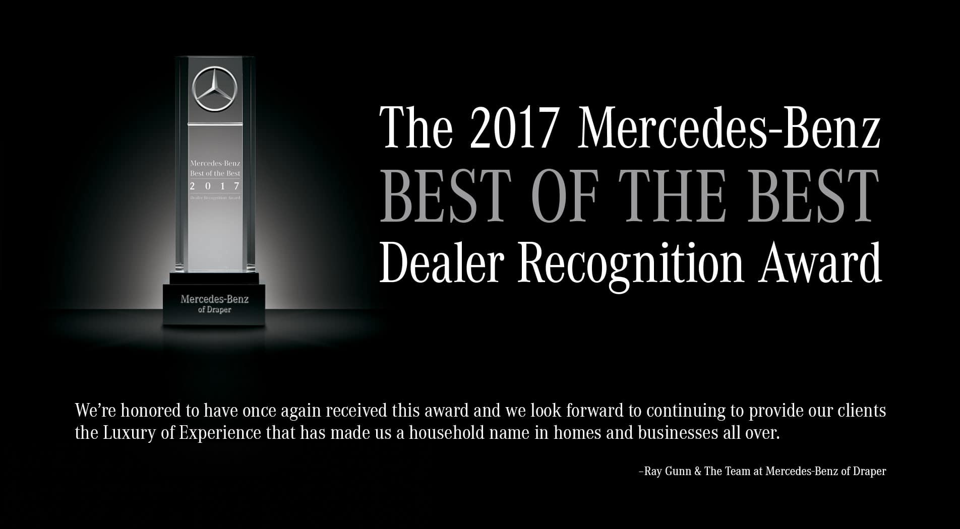 Mercedes-Benz of Draper - Best of The Best