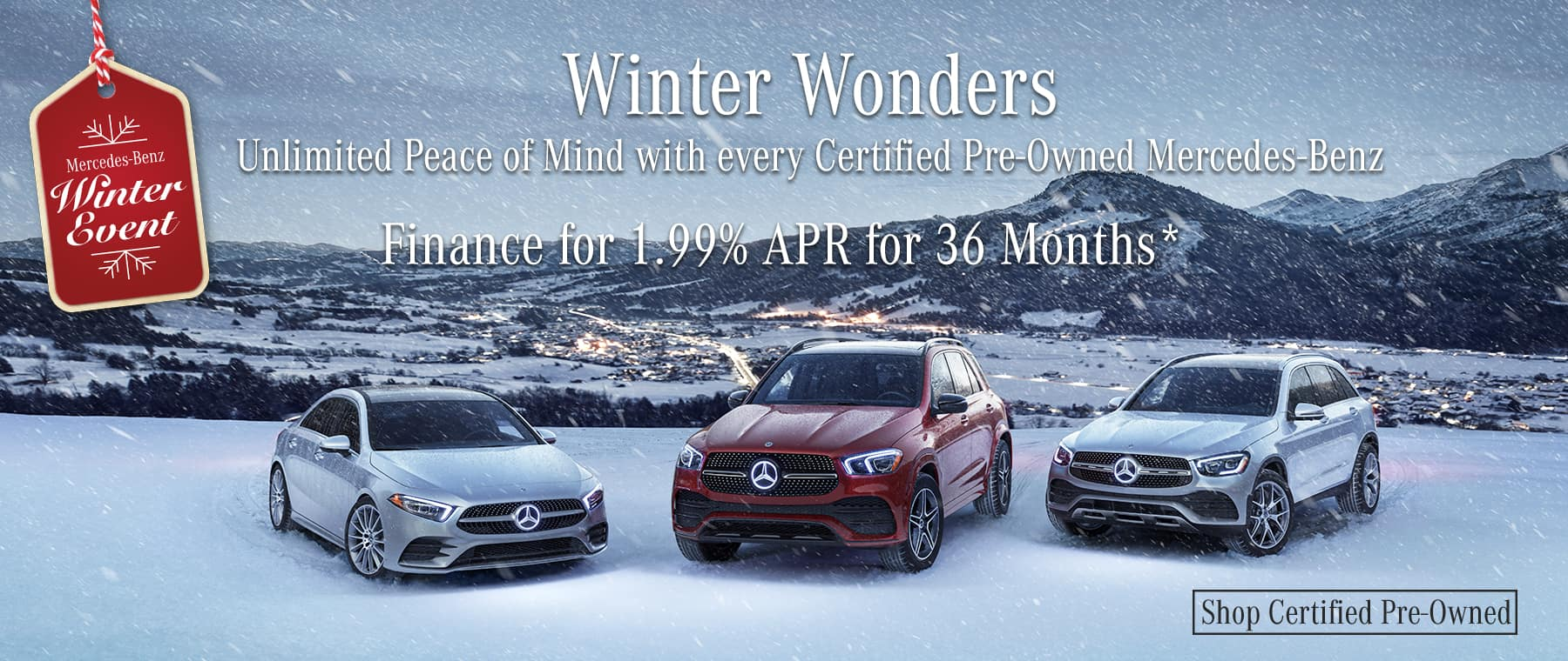 Winter Wonders! Finance Certified Pre-Owned for 1.99% APR for 36 Months