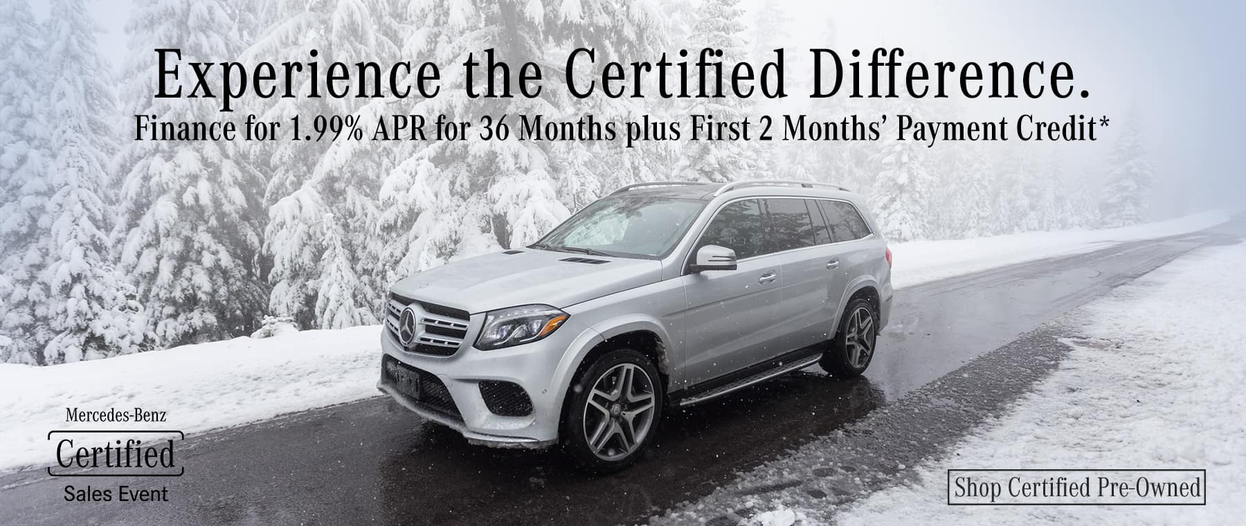 Winter Certified Pre-Owned Sales Event
