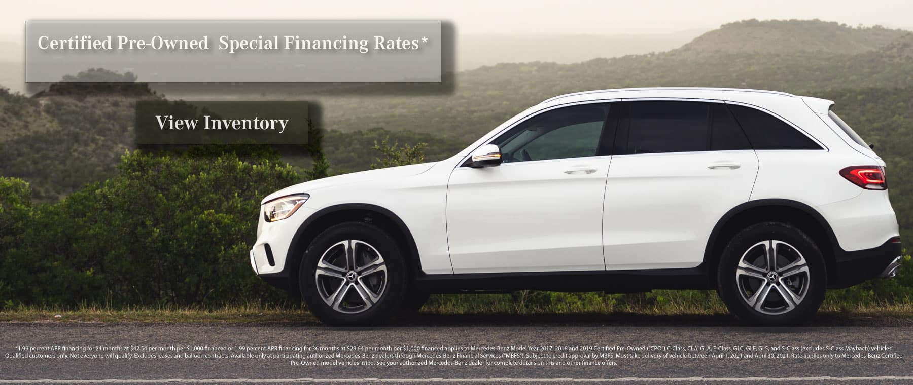 Mercedes-Benz Certified Pre Owned Finance Specials
